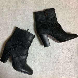 Vince Camuto Ferrah Heeled Boots Black Leather